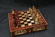 Шахматы дорожные резные. Фигуры в подарок