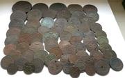 Набор из 125 старинных монет